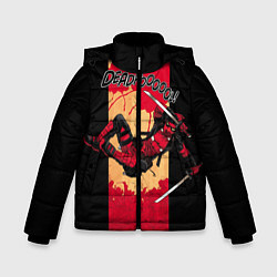 Детская зимняя куртка для мальчика с принтом Deadpool шесть непослушных рук, цвет: 3D-черный, артикул: 10275016906063 — фото 1