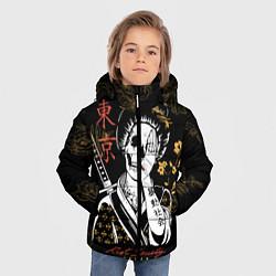 Куртка зимняя для мальчика Шарм гейши цвета 3D-черный — фото 2