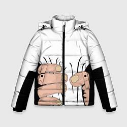 Куртка зимняя для мальчика Hand цвета 3D-черный — фото 1