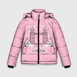 Куртка зимняя для мальчика Лондон London Tower bridge цвета 3D-черный — фото 1