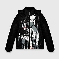 Куртка зимняя для мальчика Какаши АНБУ Наруто цвета 3D-черный — фото 1