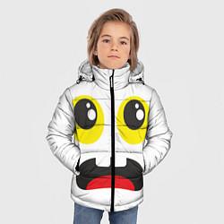 Куртка зимняя для мальчика Испуганное лицо цвета 3D-черный — фото 2