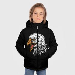 Куртка зимняя для мальчика Орёл цвета 3D-черный — фото 2
