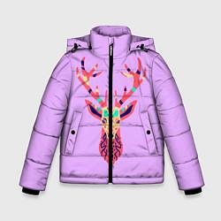 Куртка зимняя для мальчика Олень, deer цвета 3D-черный — фото 1