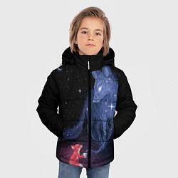 Куртка зимняя для мальчика Лиса и ее дух цвета 3D-черный — фото 2