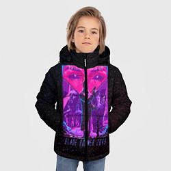 Куртка зимняя для мальчика Бегущий по лезвию цвета 3D-черный — фото 2