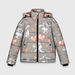 Куртка зимняя для мальчика Влюбленные цвета 3D-черный — фото 1