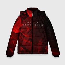 Куртка зимняя для мальчика DEATH STRANDING S цвета 3D-черный — фото 1