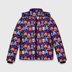 Куртка зимняя для мальчика День рождения цвета 3D-черный — фото 1