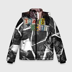 Куртка зимняя для мальчика Travis Scott photo цвета 3D-черный — фото 1