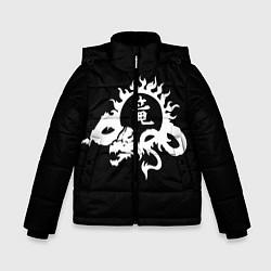 Куртка зимняя для мальчика Ребёнок на китайском цвета 3D-черный — фото 1