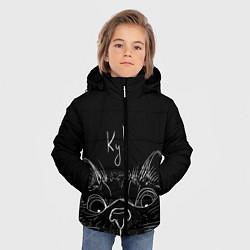 Куртка зимняя для мальчика Говорящий кот цвета 3D-черный — фото 2