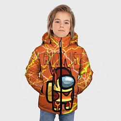 Куртка зимняя для мальчика Among Us Lightning Z цвета 3D-черный — фото 2