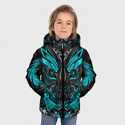 Куртка зимняя для мальчика Абстракция тигр цвета 3D-черный — фото 2