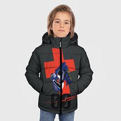 Детская зимняя куртка для мальчика с принтом Евангилион, цвет: 3D-черный, артикул: 10284279506063 — фото 2