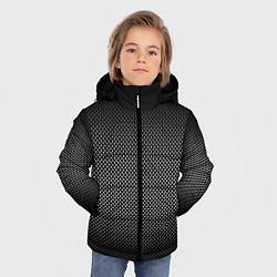 Куртка зимняя для мальчика Абстракция точки цвета 3D-черный — фото 2