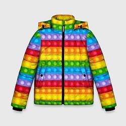 Куртка зимняя для мальчика Pop It цвета 3D-черный — фото 1