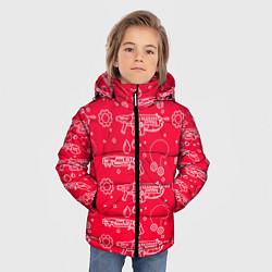 Куртка зимняя для мальчика Gears pattern цвета 3D-черный — фото 2