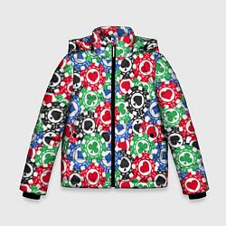 Куртка зимняя для мальчика Покер цвета 3D-черный — фото 1