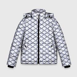 Куртка зимняя для мальчика Волейбольные Мячи цвета 3D-черный — фото 1
