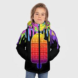 Куртка зимняя для мальчика ICE CREAM POP-IT цвета 3D-черный — фото 2