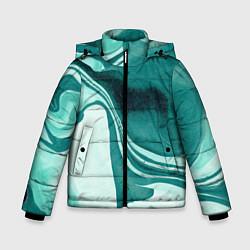 Куртка зимняя для мальчика Красочный развод цвета 3D-черный — фото 1