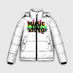 Куртка зимняя для мальчика Merch - DJ MUSICVIDEO цвета 3D-черный — фото 1