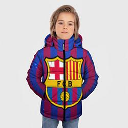Детская зимняя куртка для мальчика с принтом Barcelona, цвет: 3D-черный, артикул: 10063820306063 — фото 2