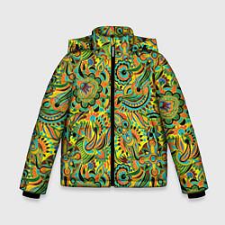 Куртка зимняя для мальчика Узор цвета 3D-черный — фото 1