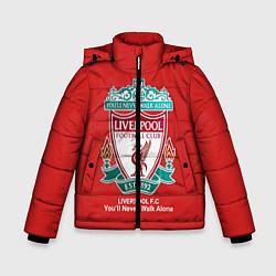 Детская зимняя куртка для мальчика с принтом Liverpool, цвет: 3D-черный, артикул: 10063903406063 — фото 1