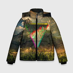 Куртка зимняя для мальчика 30 seconds to mars цвета 3D-черный — фото 1