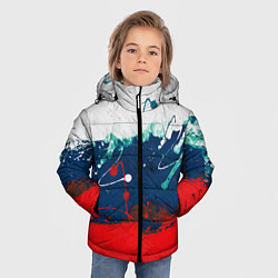 Куртка зимняя для мальчика Триколор РФ цвета 3D-черный — фото 2