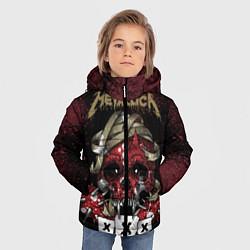 Куртка зимняя для мальчика Metallica: XXX цвета 3D-черный — фото 2