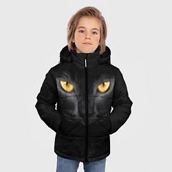 Куртка зимняя для мальчика Черная кошка цвета 3D-черный — фото 2