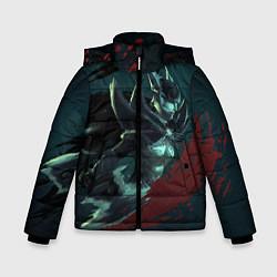 Детская зимняя куртка для мальчика с принтом Phantom Assassin, цвет: 3D-черный, артикул: 10065049106063 — фото 1
