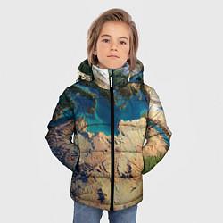 Куртка зимняя для мальчика Земля цвета 3D-черный — фото 2