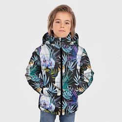 Куртка зимняя для мальчика Тропические попугаи цвета 3D-черный — фото 2