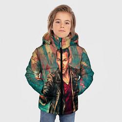 Куртка зимняя для мальчика Доктор кто цвета 3D-черный — фото 2