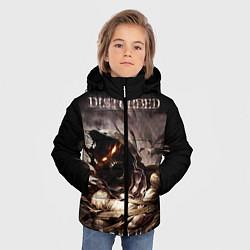 Куртка зимняя для мальчика Disturbed цвета 3D-черный — фото 2