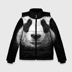 Куртка зимняя для мальчика Взгляд панды цвета 3D-черный — фото 1