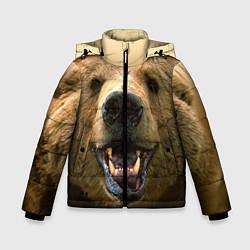 Куртка зимняя для мальчика Взгляд медведя цвета 3D-черный — фото 1