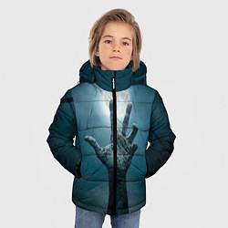 Куртка зимняя для мальчика Рука цвета 3D-черный — фото 2