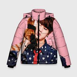 Детская зимняя куртка для мальчика с принтом BTS: Love Me, цвет: 3D-черный, артикул: 10071615506063 — фото 1