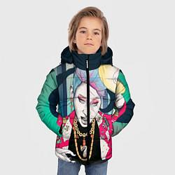 Куртка зимняя для мальчика Block B Girl цвета 3D-черный — фото 2