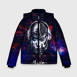 Куртка зимняя для мальчика Love pirate station цвета 3D-черный — фото 1