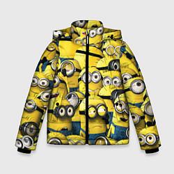 Куртка зимняя для мальчика Minions цвета 3D-черный — фото 1