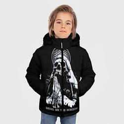 Куртка зимняя для мальчика BMTH: Skull Pray цвета 3D-черный — фото 2