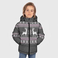 Куртка зимняя для мальчика Узор с оленями цвета 3D-черный — фото 2