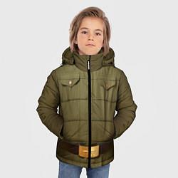 Куртка зимняя для мальчика Униформа солдата цвета 3D-черный — фото 2