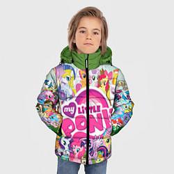 Детская зимняя куртка для мальчика с принтом My Little Pony, цвет: 3D-черный, артикул: 10075445006063 — фото 2